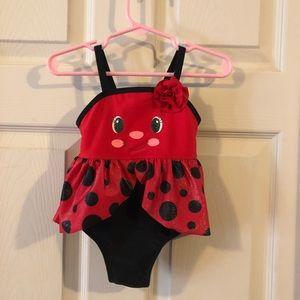 Never worn ladybug bathing suit
